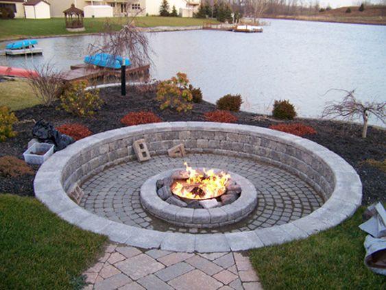 Backyard Fire Pit Custom