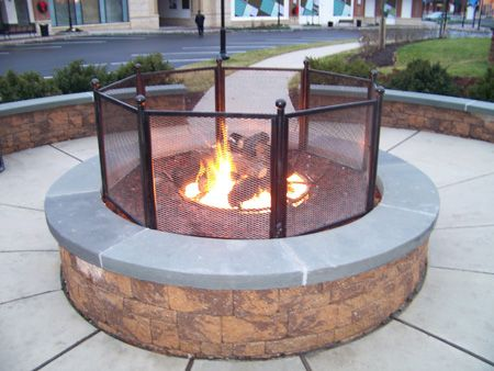 Close up of Commercial Fire Pit in Warrington, PA