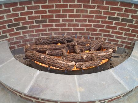 Close up of Log Set
