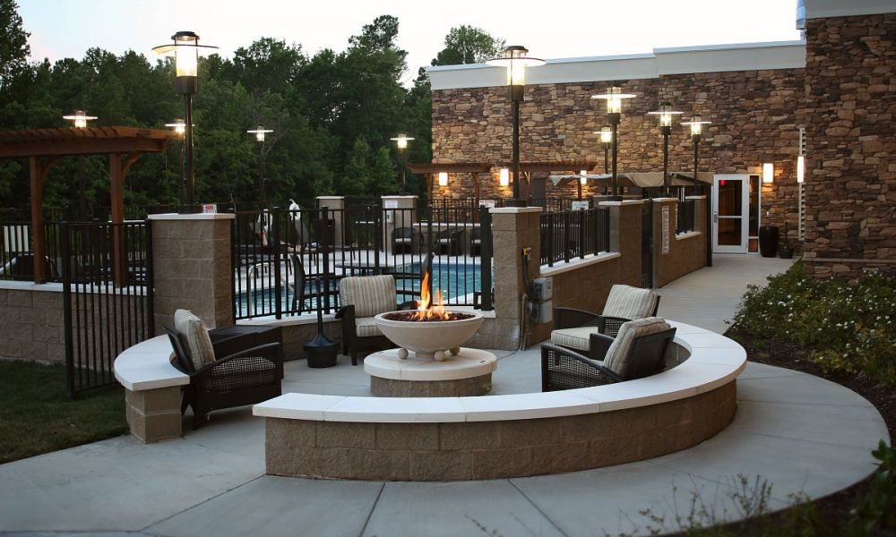 Fire Pit by Pool