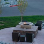 Fire Pit taken from Hotel Room