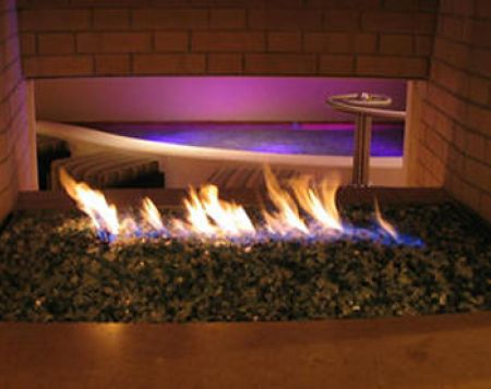 Fireglass adds unique look to Fireplace