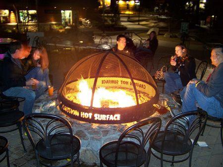 Lake Tahoe Fire Pit - Night